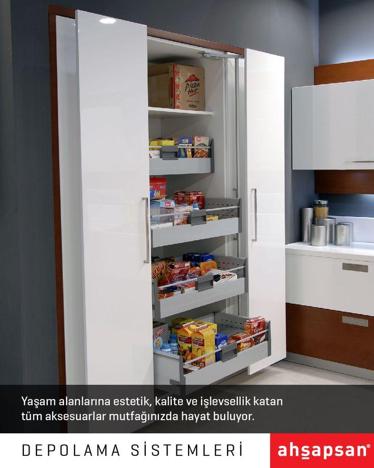DEPOLAMA SİSTEMLERİ  #AHŞAPSAN #Mutfak #Aksesuar #MutfakTasarımı #Mobilya #MutfakMobilyaları #KitchenDesign #Kitchen