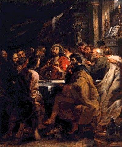 Peter Paul Rubens 1577 – 1640  The Last Supper oil on panel (304 × 250 cm) — 1632 Museum Pinacoteca di Brera, Milan  Peter Paul Rubens biography  This work is linked to Luke 22:14