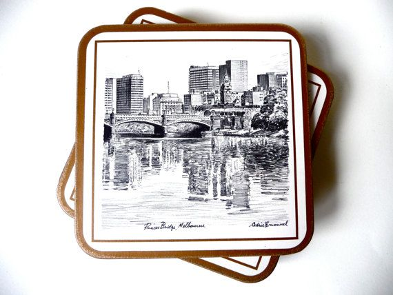 Vintage Boxed Set Of  Six Pimpernel Coasters