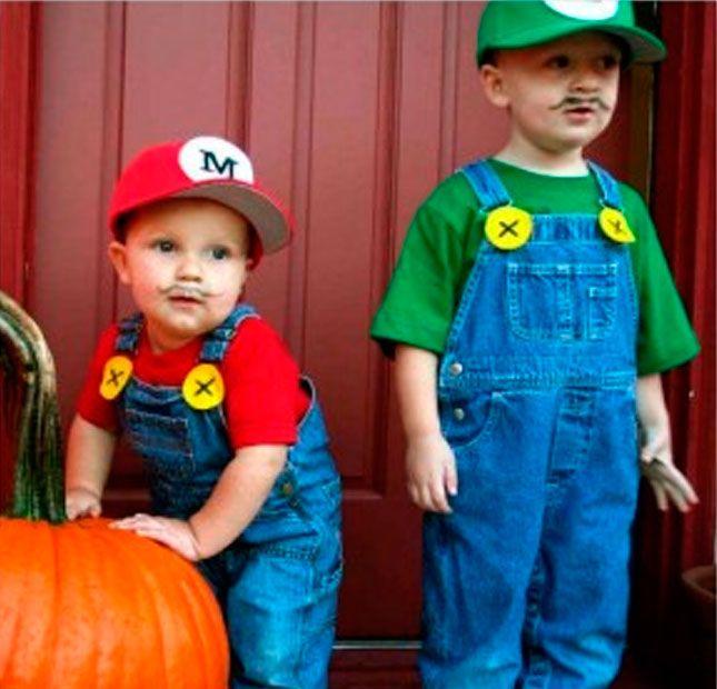 Mario Bros y Luigi costume, carnival for kids - Disfraz Mario Bros y Luigi, carnaval para niños