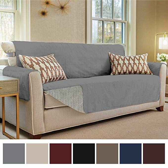 Gorilla Grip Original Slip Resistant Furniture Protector Suede Like Material Slip Reducing Backing Two 2 T Furniture Slipcovers Slip Covers Couch Furniture