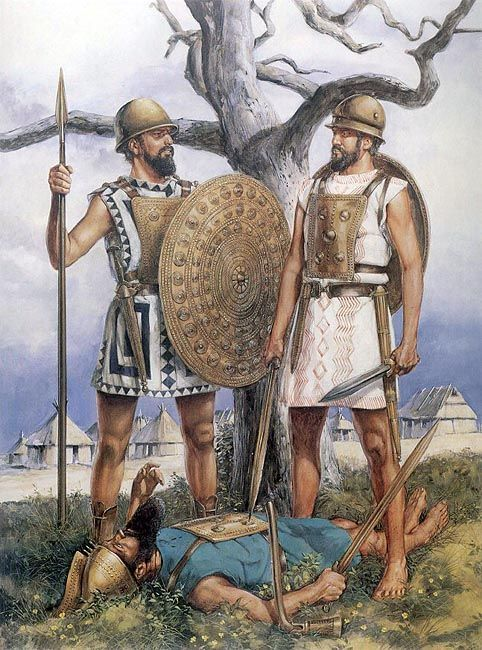 The first Roman warriors, Romulus and Remus around 700 BC, by Richard Hook