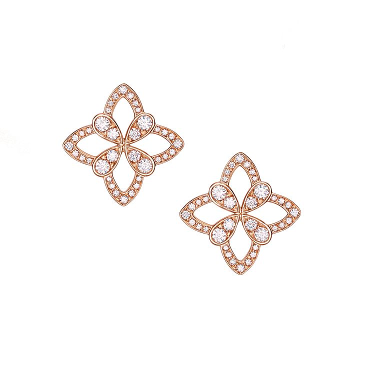 Legacy Stud Earrings in Red Gold / David Marshall London