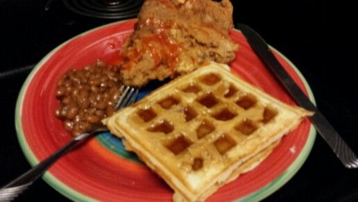 Chicken and Waffles so good