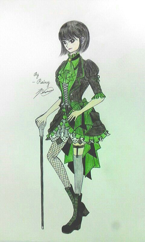 Green Gothic girl