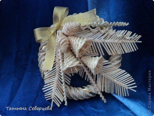 Поделка изделие Новый год Рождество Плетение С Новым годом Соломка фото 10