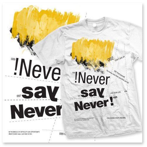 "T-Shirt ""Never say never"" – HAKUNA MATATA"