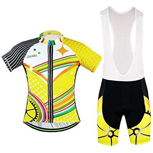 2016 Short Sleeve Mens Aogda Cycling Jersey Summer Bicicleta Bike Riding Shirts Road Bicycle Racing Clothing Wears Short Sleeve Ciclismo Jacket Yellow293 Bib Shorts Set 4XL ** Read more  at the image link.