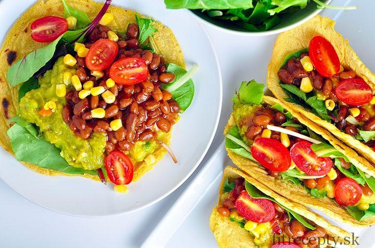 Kukuričné tortilly plnené avokádom a fazuľou - FitRecepty
