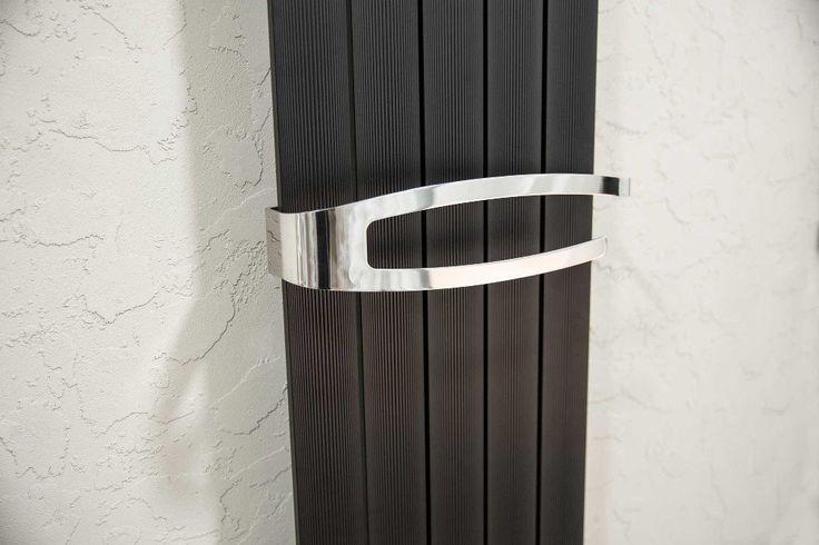 MIMOSA hliníkové otopné těleso 370x1500, metalická černá, SAPHO E-shop