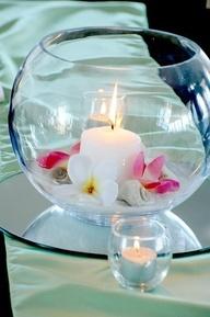 pearl fish bowl centerpiece - Google Search