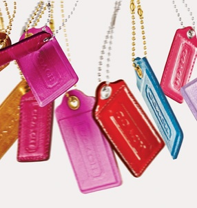 Love the new Coach Holiday gift tag campaign!