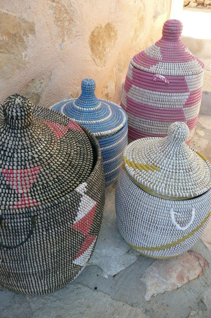 Gorgeous african basket with cover