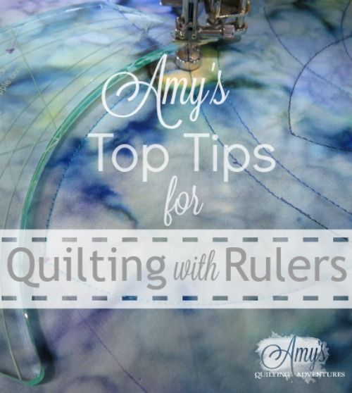 Tips for quilting with rulers on a sewing machine