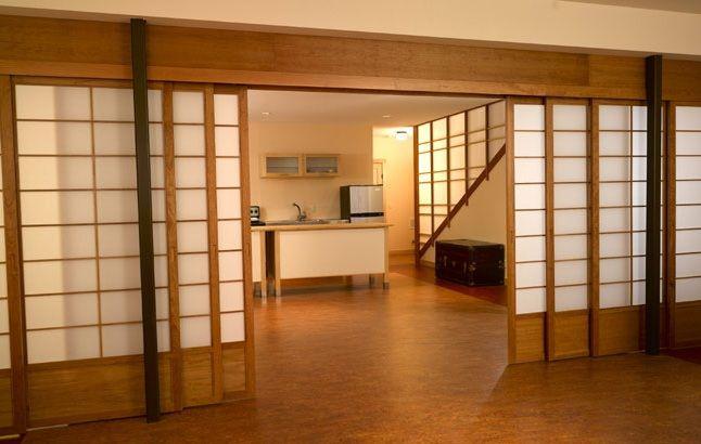 Interior Japanese Sliding Doors as Oriental Room Dividers