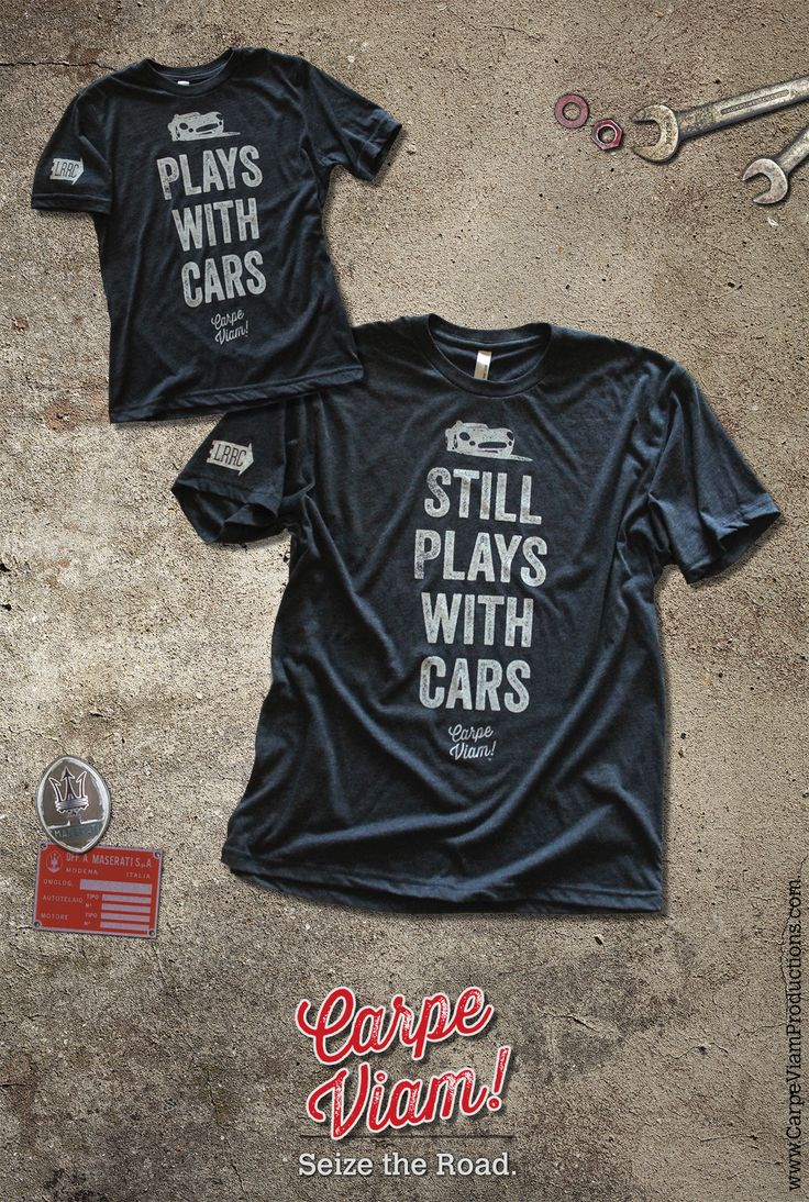 """The NEW """"Plays with Cars"""" tshirt set for car lovers."""