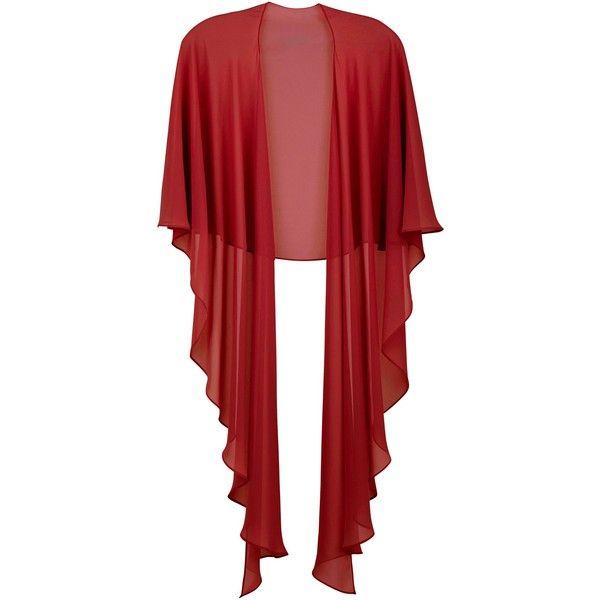 Gina Bacconi Chiffon shawl ($110) ❤ liked on Polyvore featuring accessories, scarves, red, women, chiffon scarves, chiffon shawl, red shawl, shawls scarves and gina bacconi