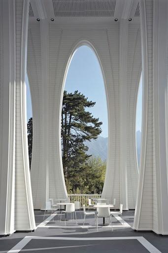 Tamina thermal baths in Bad Ragaz, Switzerland by Smolenicky & Partners