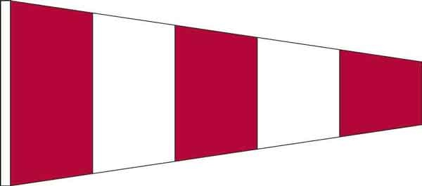 High Wind, US made Size No. 2 - Answering Pennant