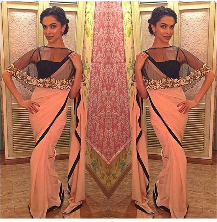 Love the cape look on a saree #Stunning