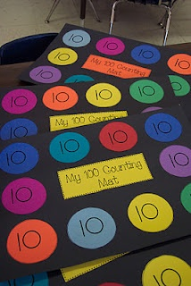 I am going to be busy making these for our upcoming 100th day of school!Counting Mats, Schools Math, Kindergarten Math, Skip Counting, Schools Ideas, Counting To 100, Math Ideas, 100S, 100 Counting