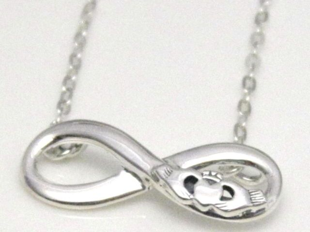 925 Sterling Silver Infinity Knot Pendant Necklace with ...