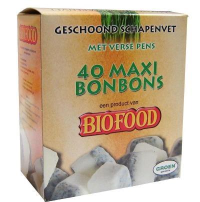 Biofood schapenvet bonbons pens 40 st  - helpt prima bij verharen.  Lees hier de blog: http://www.dieren-winkels-online.nl/is-uw-hond-weer-aan-het-verharen-de-verhaartijd-komt-eraan/