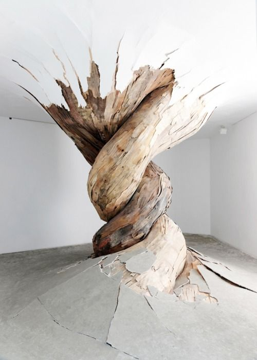 twisted: Henriqu Olive, Artists, Trees Trunks, Art Sculpture, Inspiration, Art Installations, Wood Sculpture, Henrique Oliveira, Installations Art