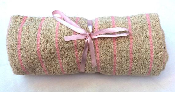 Baby Girl Blanket  100 Hand Woven Cotton  Ultra by MathildeAndCo, £16.00