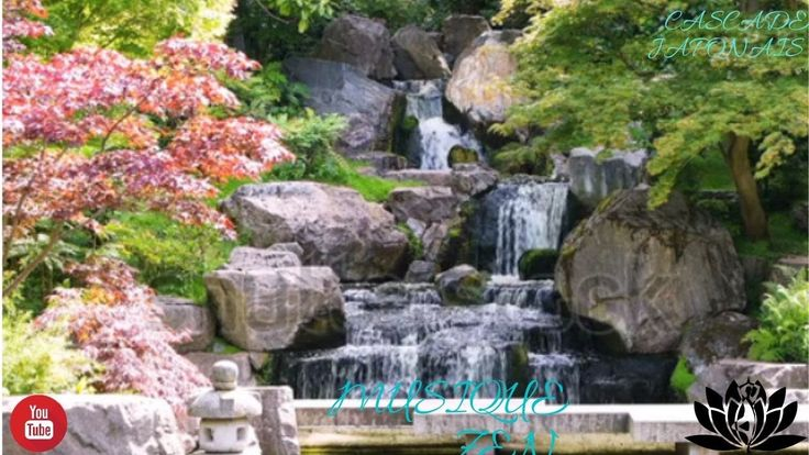 cascade japonaise avec musique de