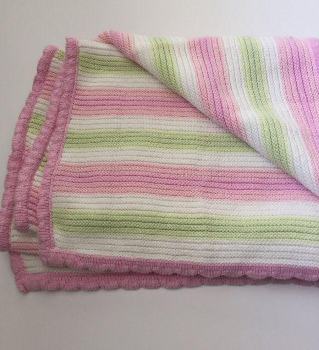 Pink, Mint, & White Stroller Blanket