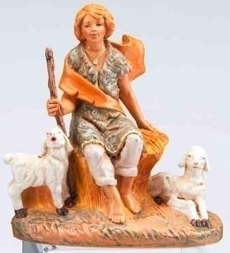 Peter, Shepherd boy with sheep