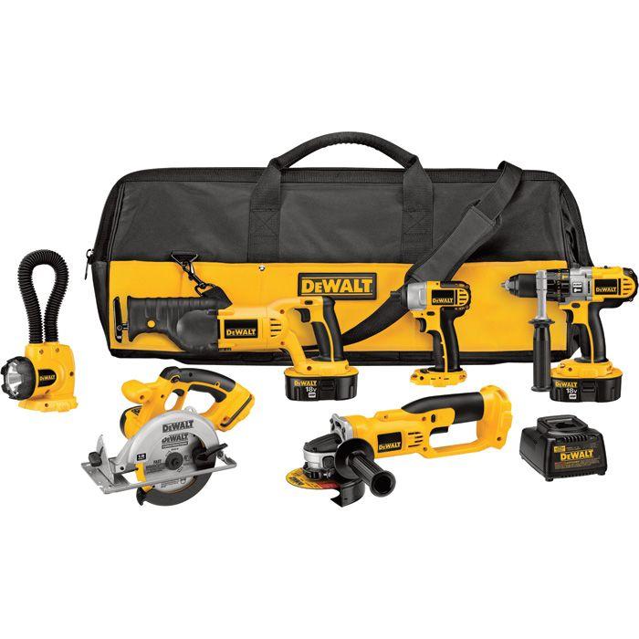 FREE SHIPPING — DEWALT Cordless Combo Tool Kit — 18 Volts, 6-Tool Set, Model# DCK655X | Cordless Power Tool Kits| Northern Tool + Equipment