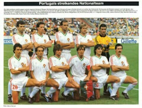 Portugal team group at the 1986 World Cup Finals.