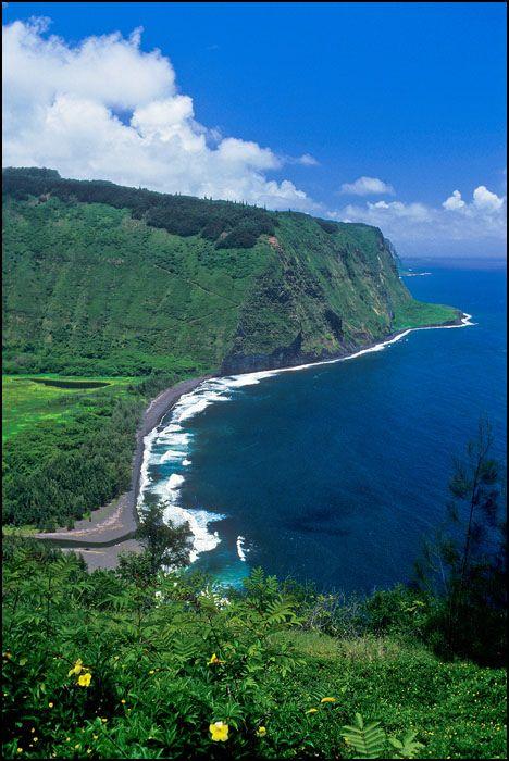 "Waipio Valley, Hawaii - Once the capital and permanent home of the early Hawaiian kings. Waipio means ""curved water"" in the Hawaiian language."
