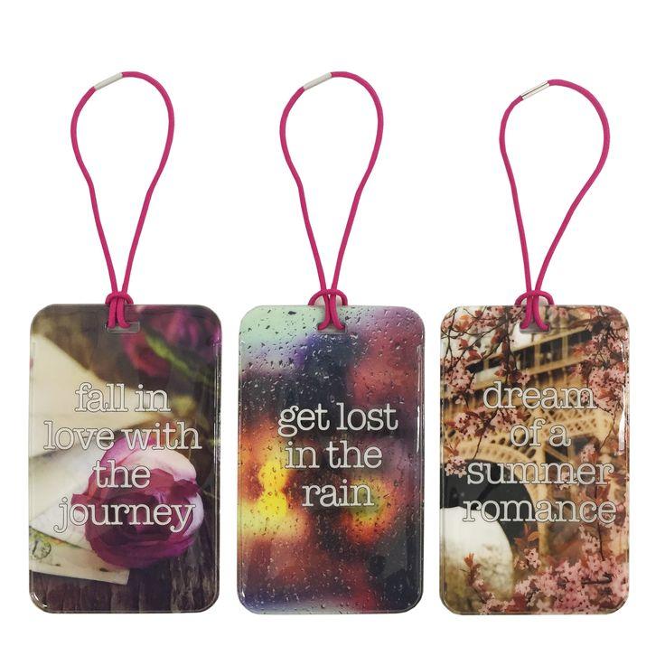 Set Of 3 Luggage Tags (Romance)