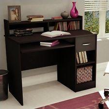 Home Office Desk With Hutch Wood Computer Desks Student Workstation GREAT DEAL