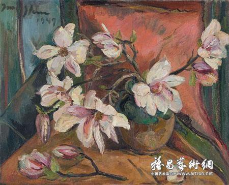 """Irma Stern's """"Magnolias in an Earthenware Pot"""" earned R7.15 million"""
