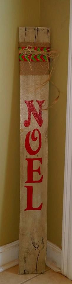 Christmas Decoration Reclaimed Wood Sign by MyRusticRooster