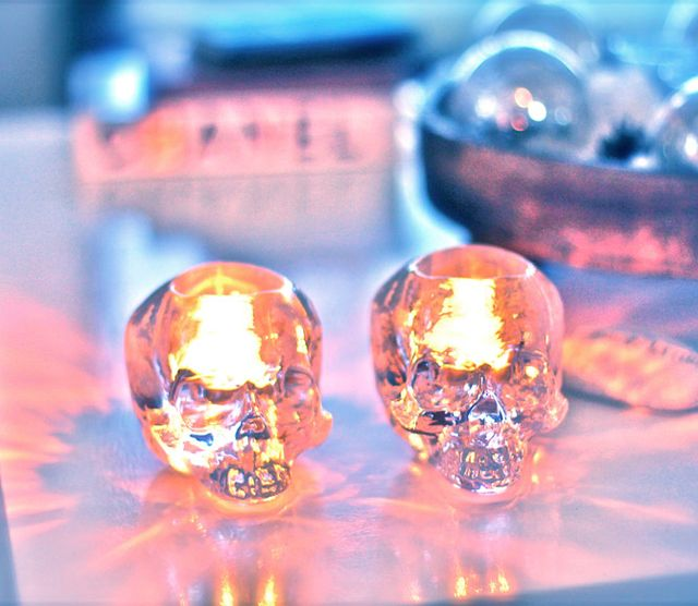 Crystal Skull Votive by Kosta Boda