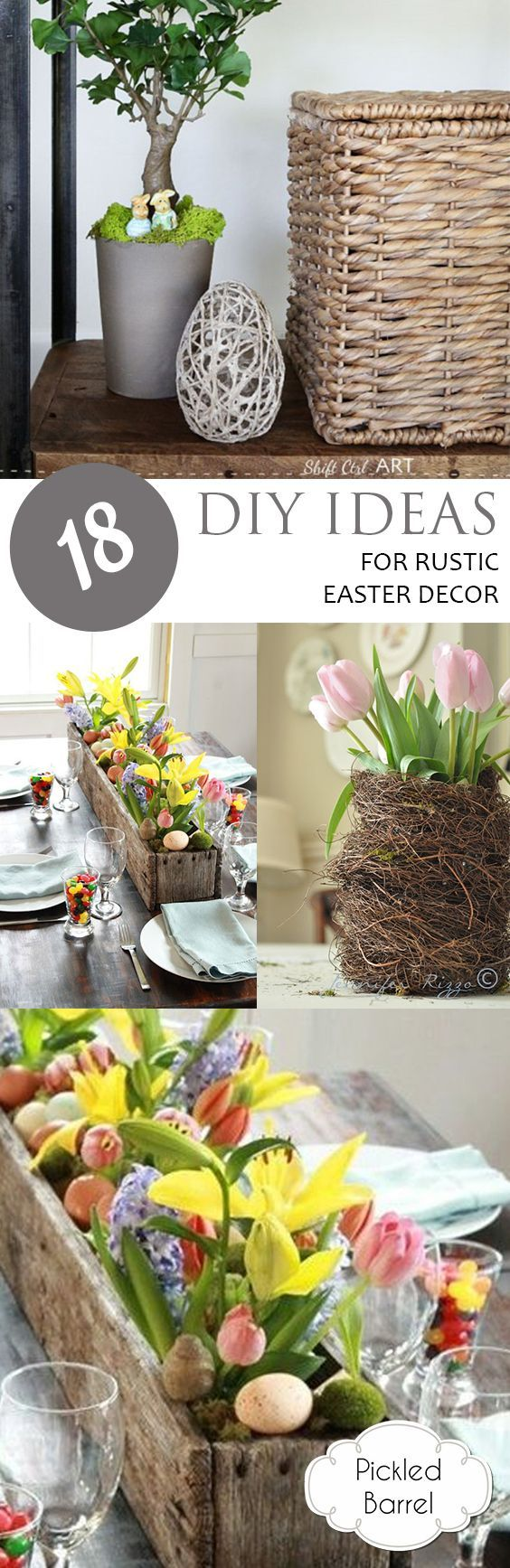 18 DIY Ideas for Rustic Easter Decor -