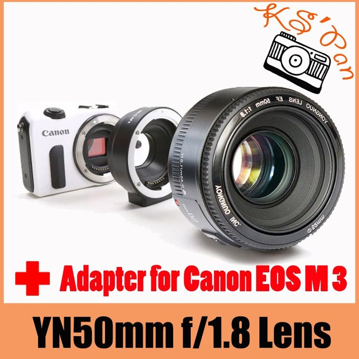 ==> [Free Shipping] Buy Best YONGNUO YN EF 50mm f/1.8 AF Lens Aperture Auto Focus  Meike MK-C-AF4 Electronic Auto Focus Adapter for Canon EOS M 3 Online with LOWEST Price | 32628873171