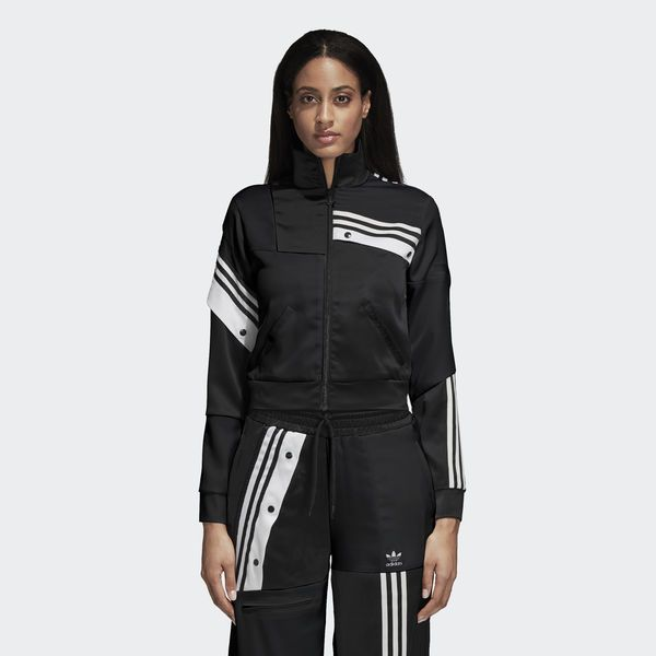 5a2995e97bc5 Danielle Cathari Deconstructed Adidas Track Jacket Black   White DT6271
