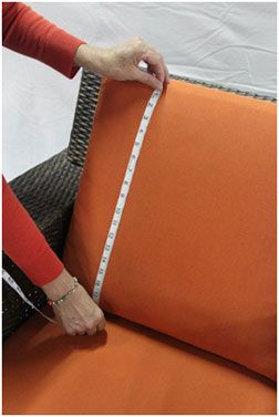 Need new replacement cushions for your outdoor patio furniture? We can help with that! Measuring for new replacement patio cushions is so easy, when you can follow our simple replacement cushion measuring instructions. Click the link for the instructions--once you have the measurements, the rest is *really* easy!