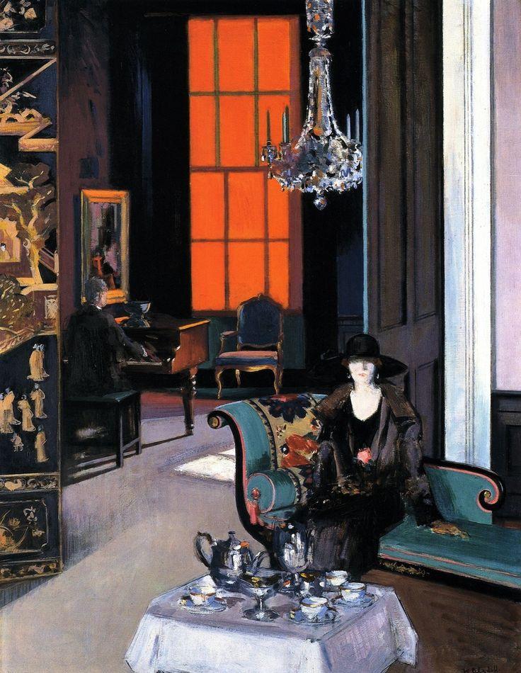 """ Francis Cadell, Interior: The Orange Blind, 1914 """