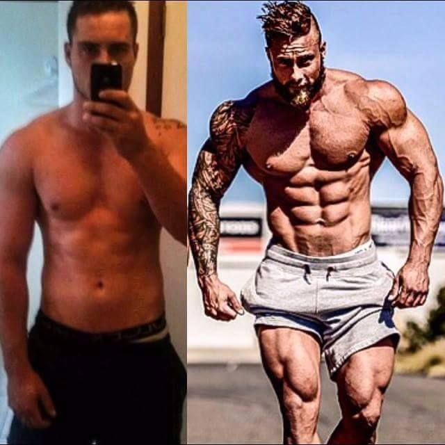 107 best men's skinny to muscular transformation images on, Muscles