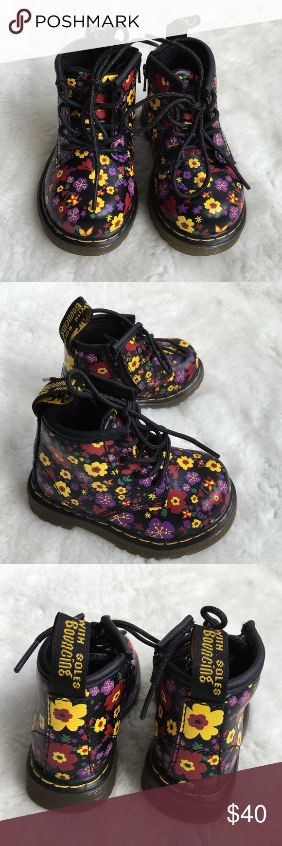 New Baby Dr. Martens Floral Boots size 4 US New without box Baby Dr. Martens Floral Boots size 4 US. Too Cute!! Please look at pictures for better reference. Happy shopping!! Dr. Martens Shoes Baby & Walker