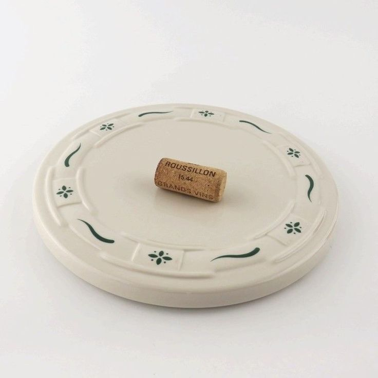 Longaberger Pottery Woven Traditions Heritage Green Trivet Tray Hot Plate