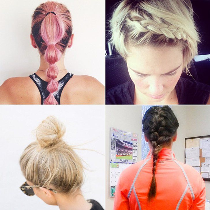 Check out this article: Best Hairstyles For Your Workout http://www.popsugar.com/fitness/Best-Hairstyles-Your-Workout-14749598 How do you wear your hair when you workout? #workouthair