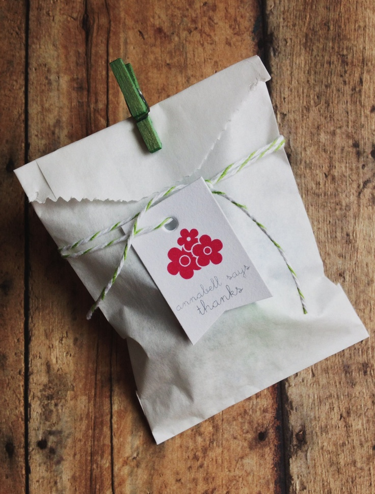 Girls birthday party favors - Favor bags - kids party - birthday party favor tags butterfly flower birthday party theme. $12.00, via Etsy.